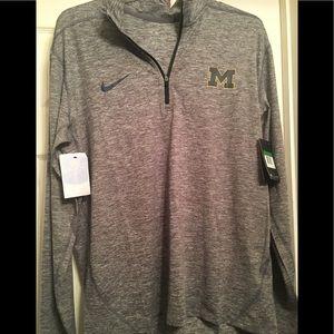 New XL Michigan Nike Dark Grey Dri Fit Jacket